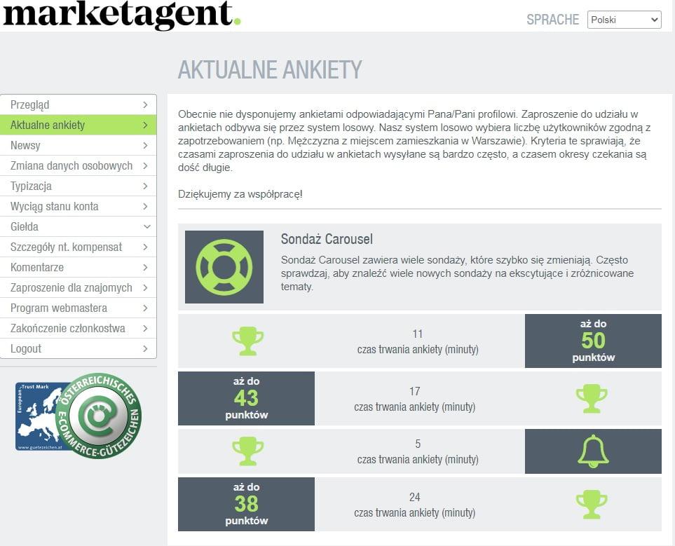 marketagent aktualne ankiety